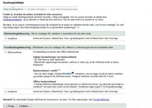 adwords opsætning google